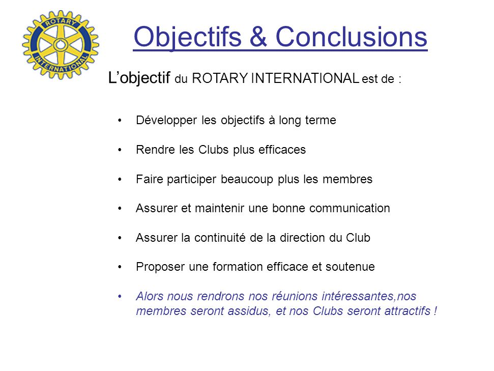 Objectifs & Conclusions
