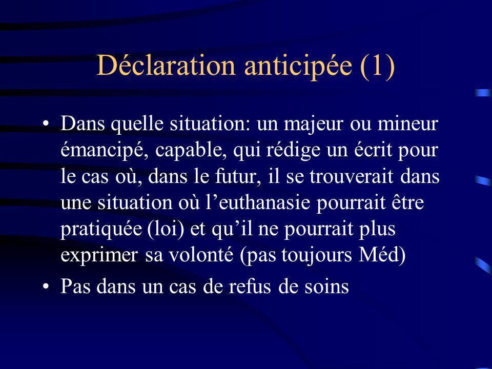 Déclaration anticipée (1)