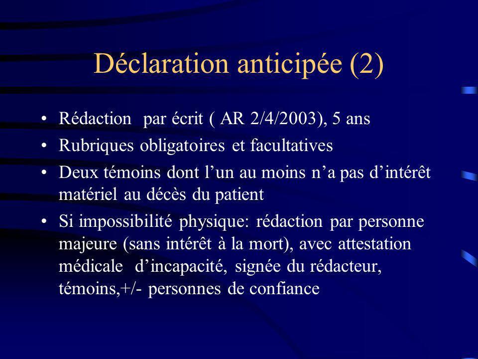 Déclaration anticipée (2)