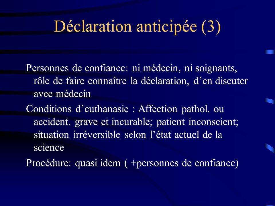 Déclaration anticipée (3)
