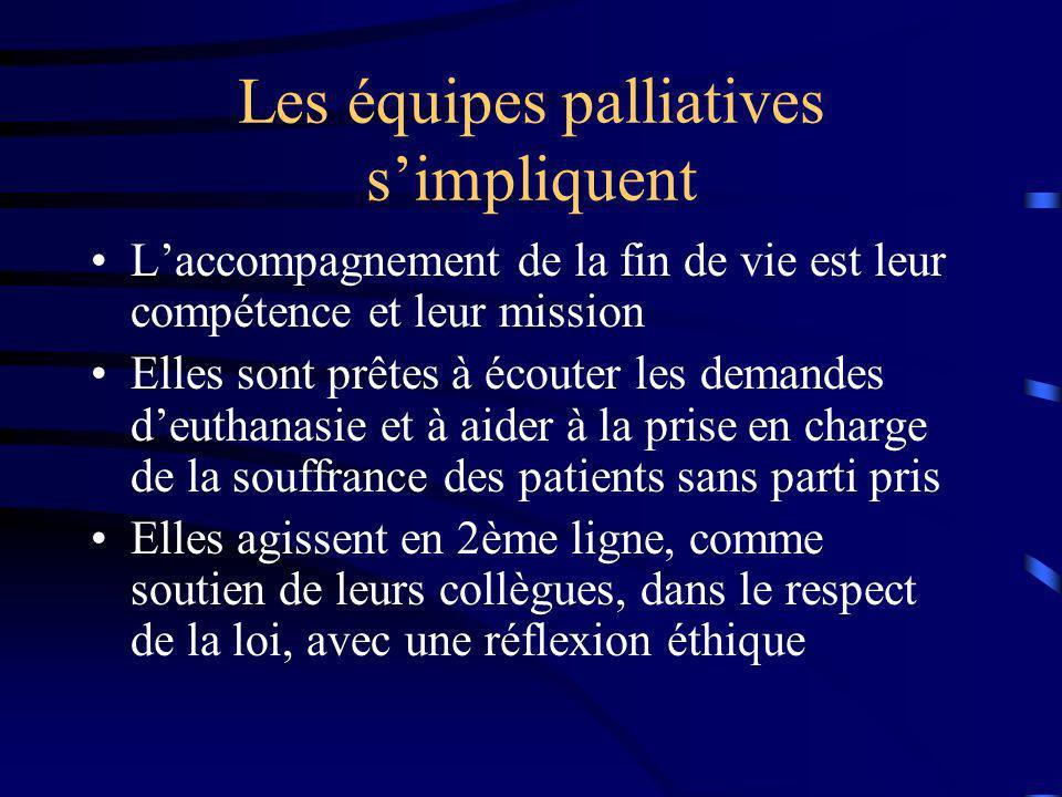 Les équipes palliatives s'impliquent