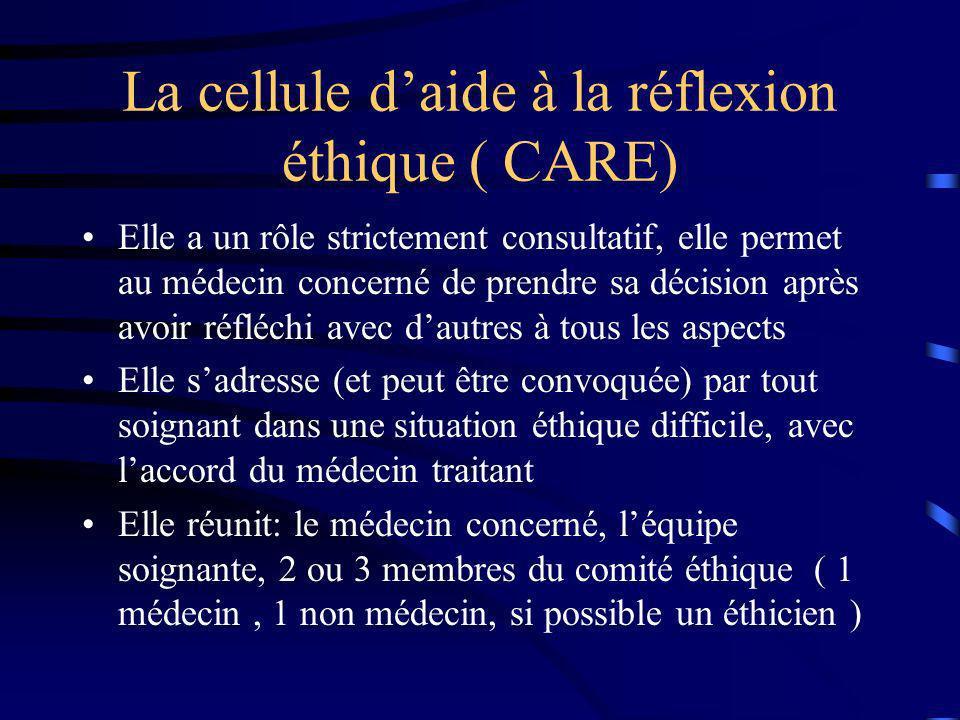 La cellule d'aide à la réflexion éthique ( CARE)