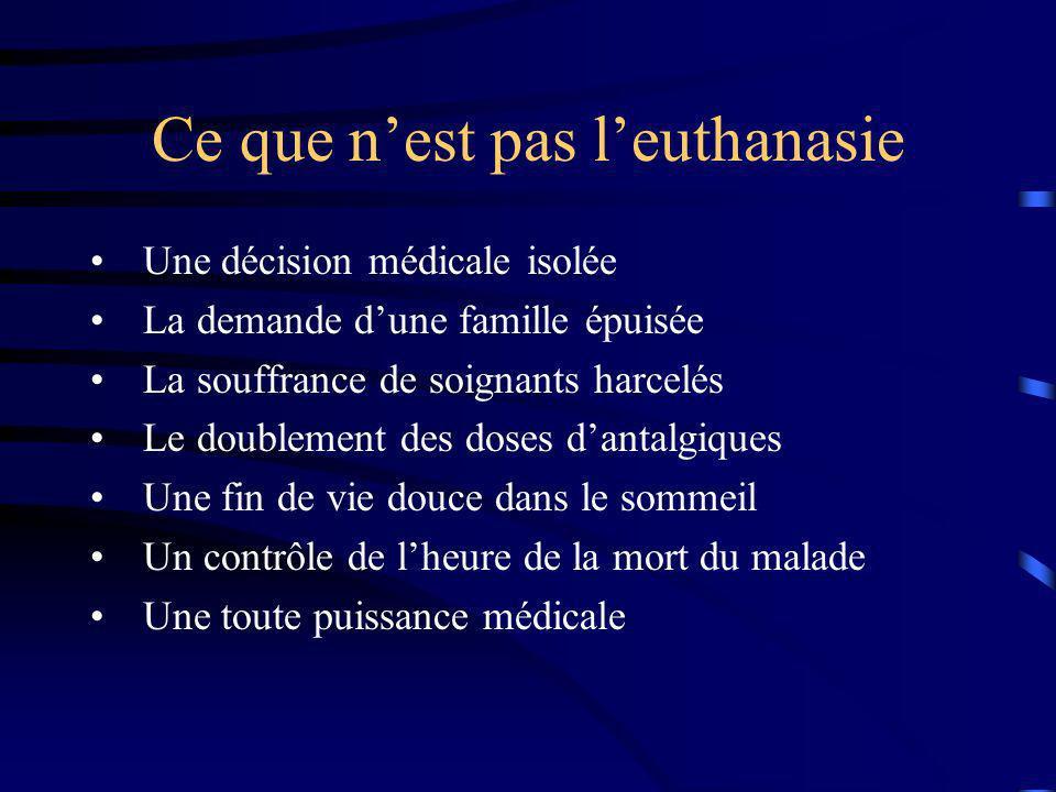 Ce que n'est pas l'euthanasie