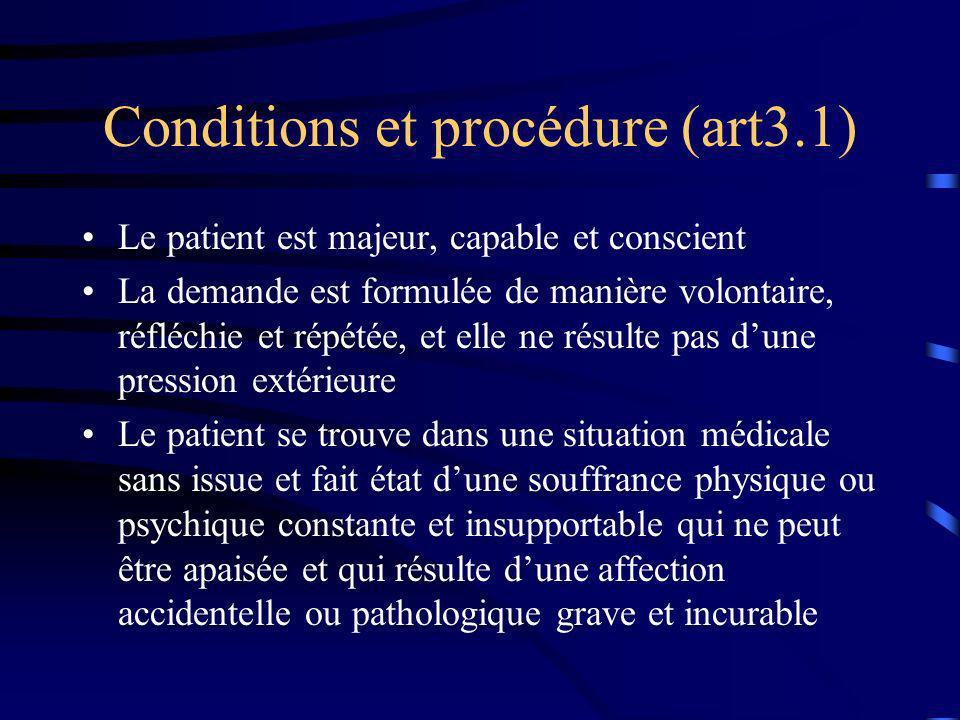 Conditions et procédure (art3.1)