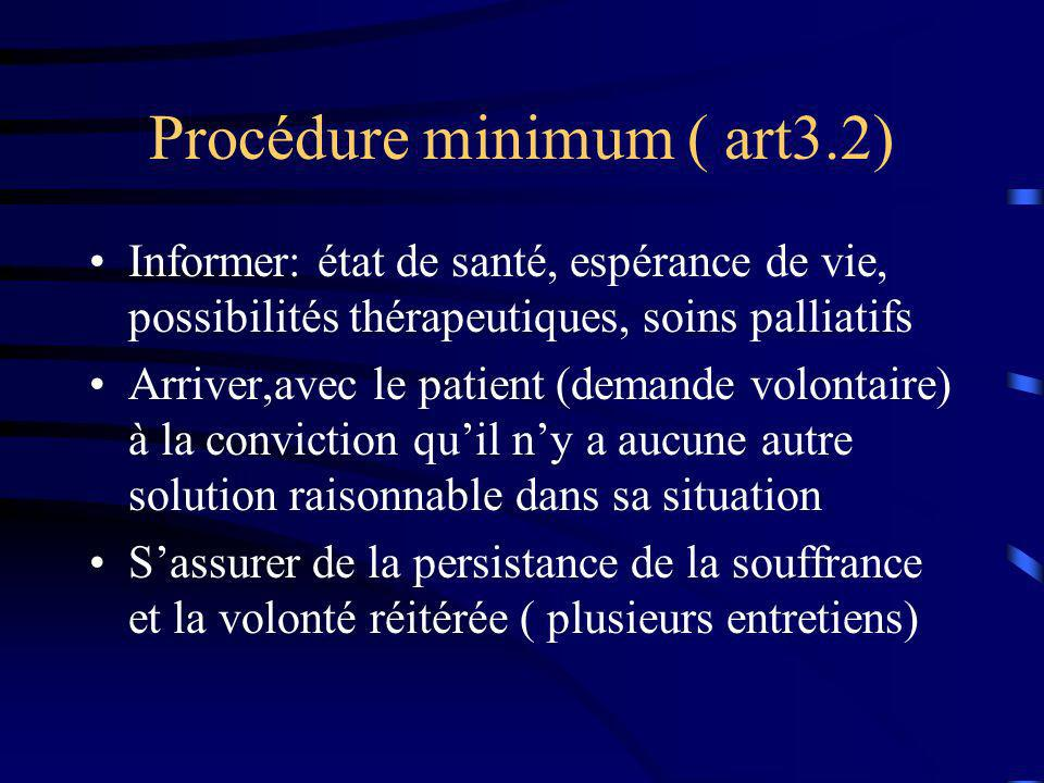 Procédure minimum ( art3.2)