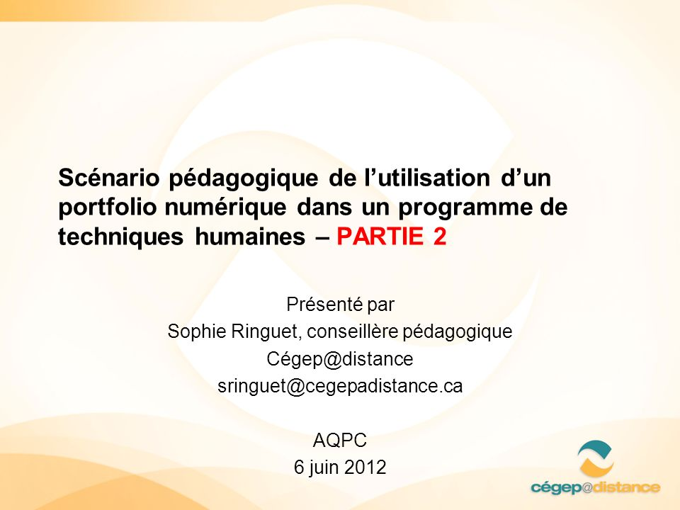 Sophie Ringuet, conseillère pédagogique