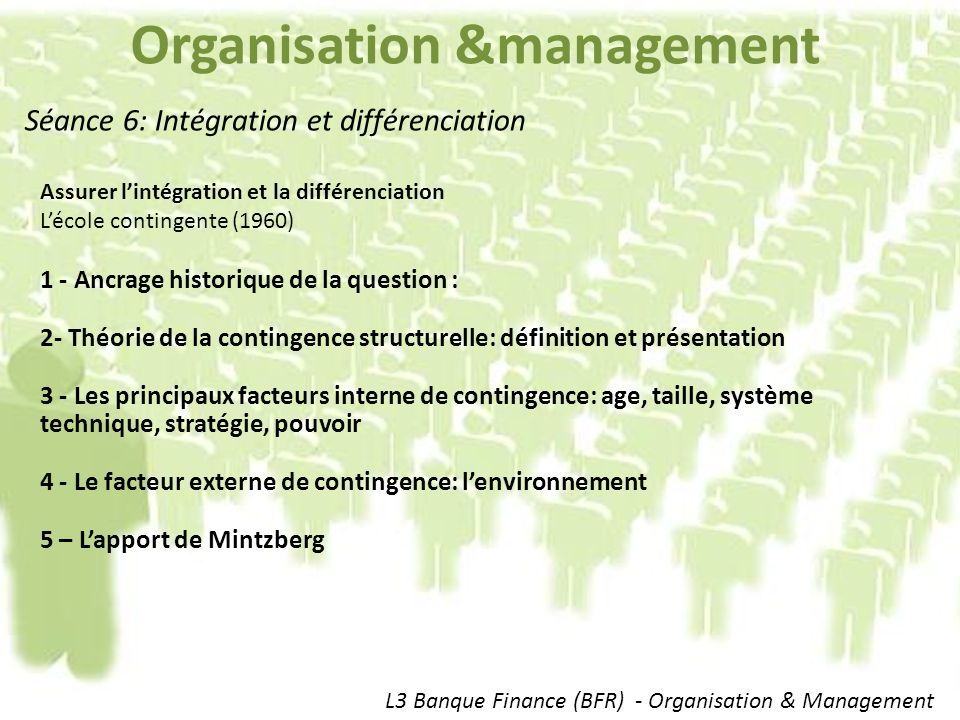 Organisation &management