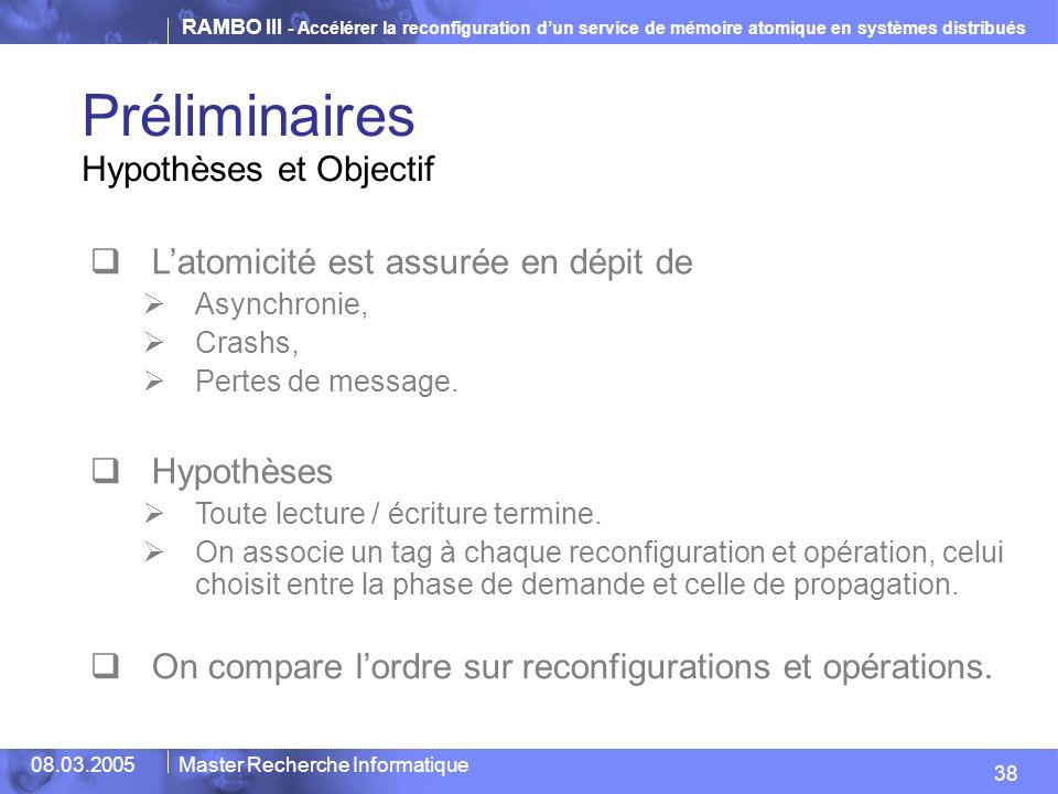 Préliminaires Hypothèses et Objectif
