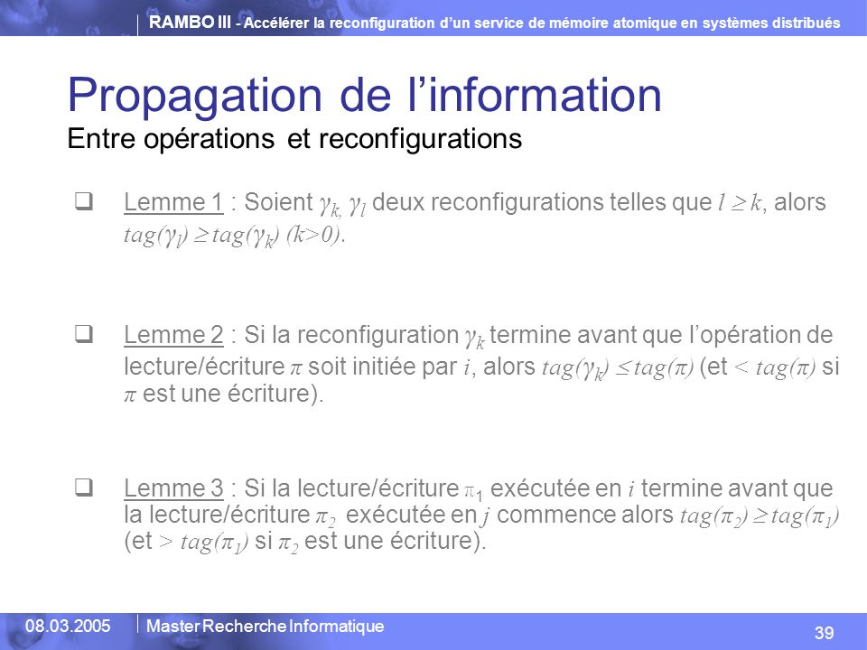 Propagation de l'information