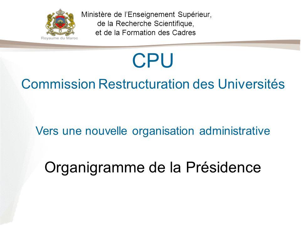 CPU Organigramme de la Présidence