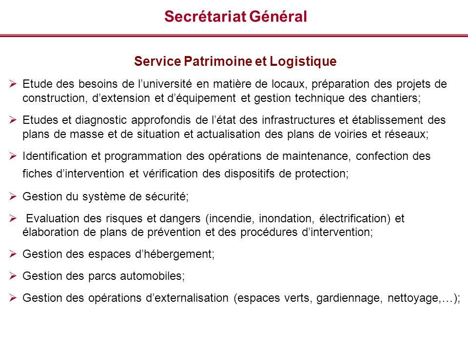 Service Patrimoine et Logistique
