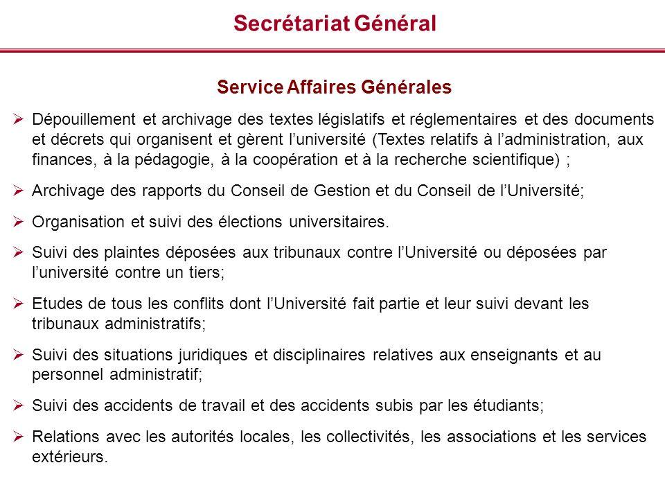 Service Affaires Générales