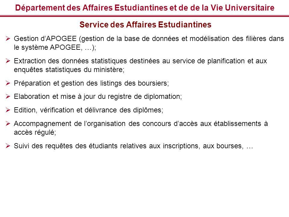 Département des Affaires Estudiantines et de de la Vie Universitaire