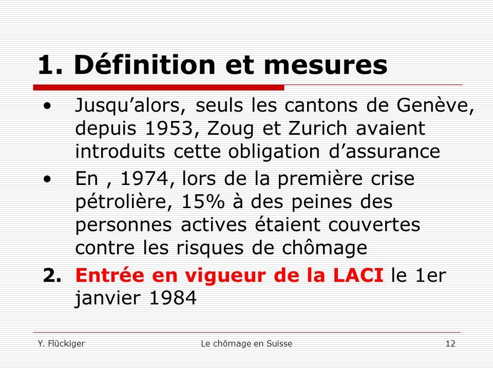 1. Définition et mesures Jusqu'alors, seuls les cantons de Genève, depuis 1953, Zoug et Zurich avaient introduits cette obligation d'assurance.