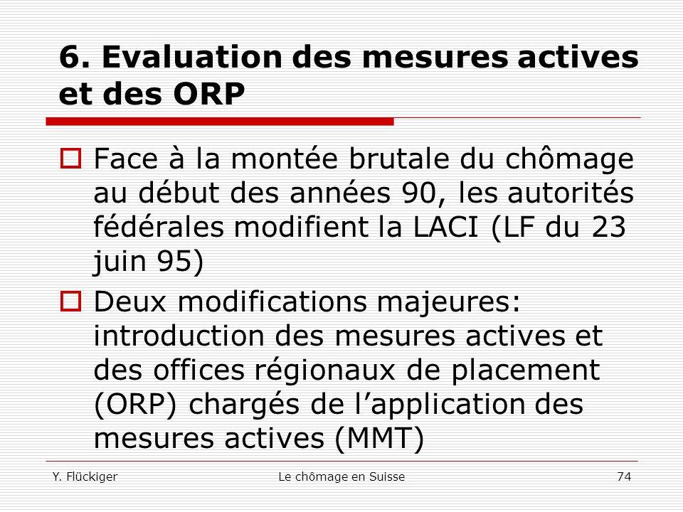 6. Evaluation des mesures actives et des ORP