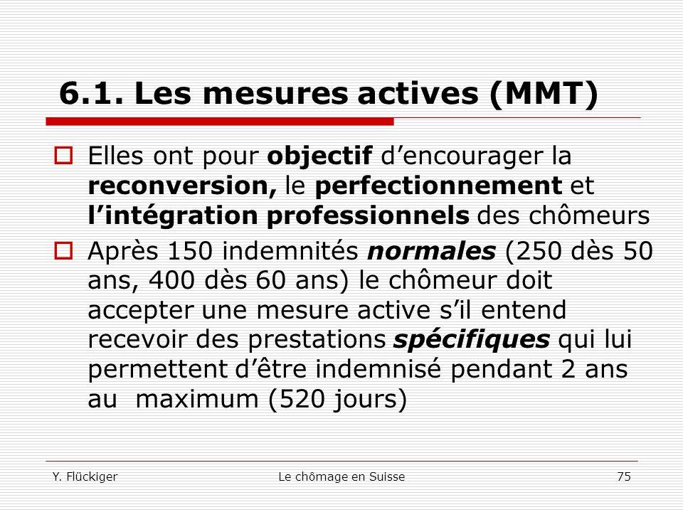 6.1. Les mesures actives (MMT)