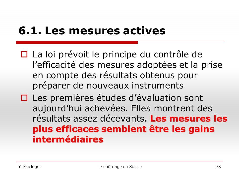 6.1. Les mesures actives