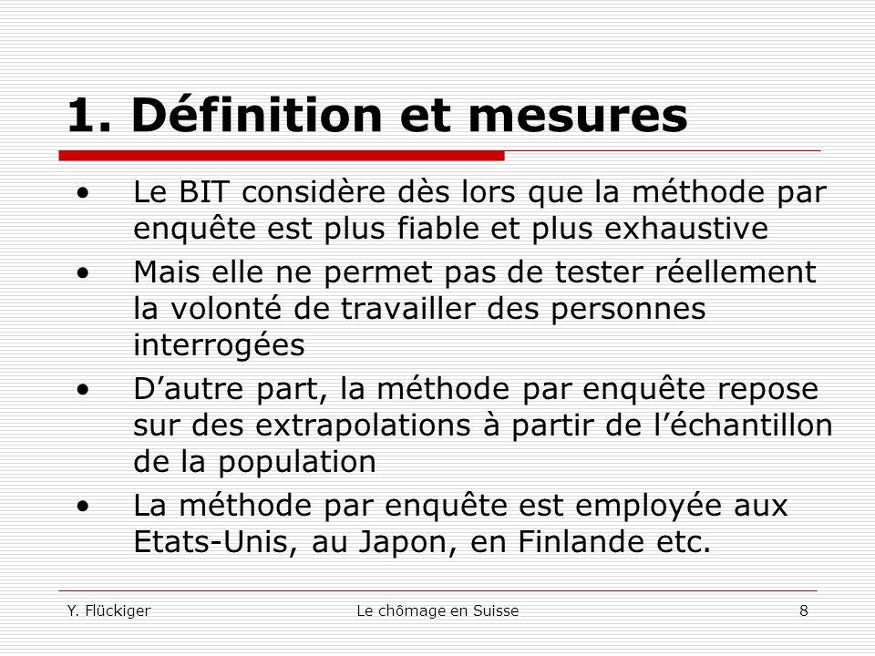 1. Définition et mesures Le BIT considère dès lors que la méthode par enquête est plus fiable et plus exhaustive.