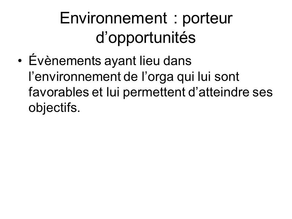 Environnement : porteur d'opportunités