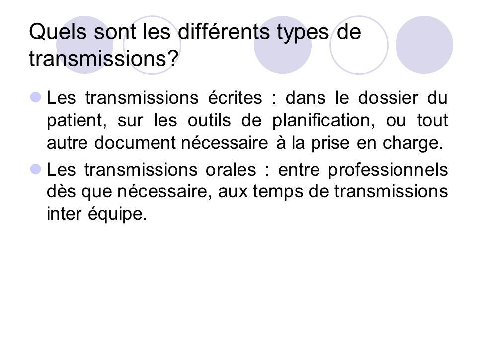 Quels sont les différents types de transmissions