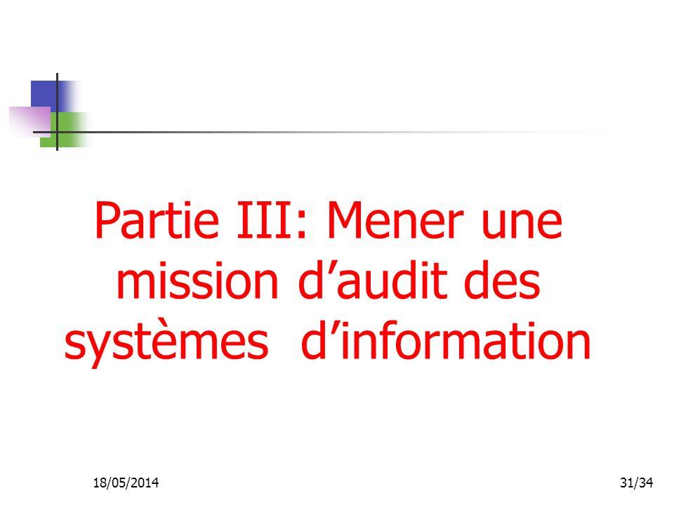 Partie III: Mener une mission d'audit des systèmes d'information