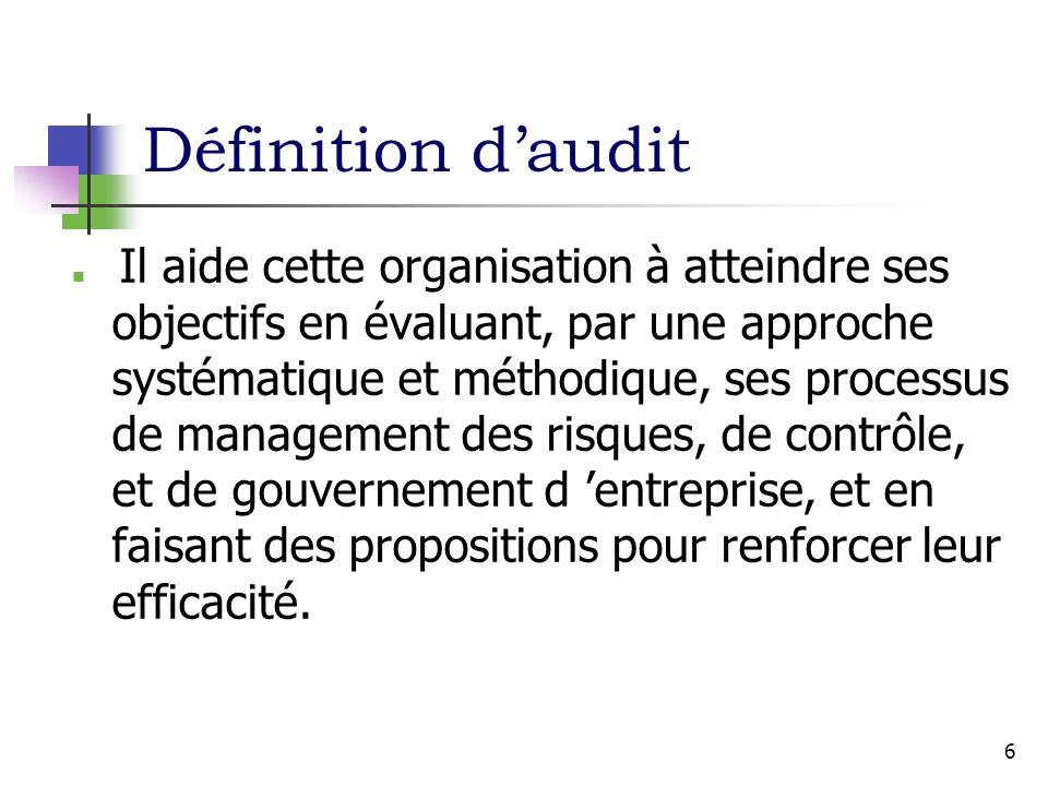 Définition d'audit