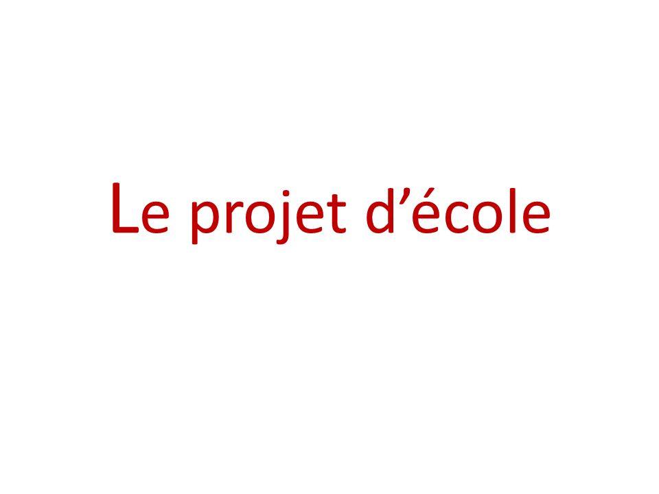 Le projet d'école