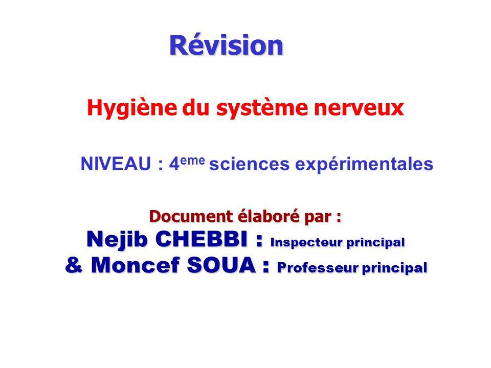 Révision Hygiène du système nerveux