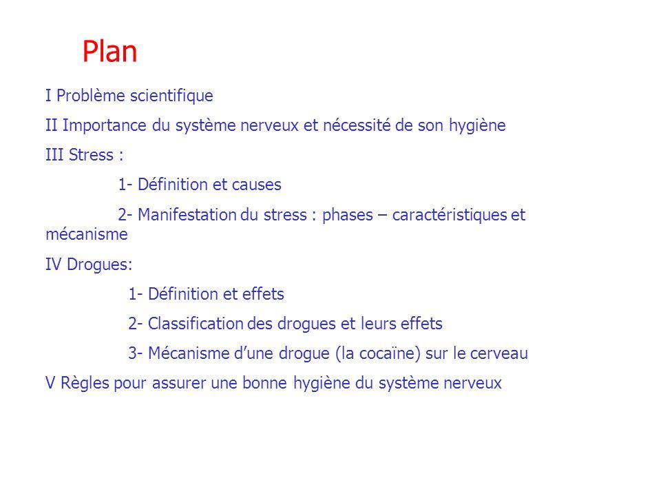 Plan I Problème scientifique