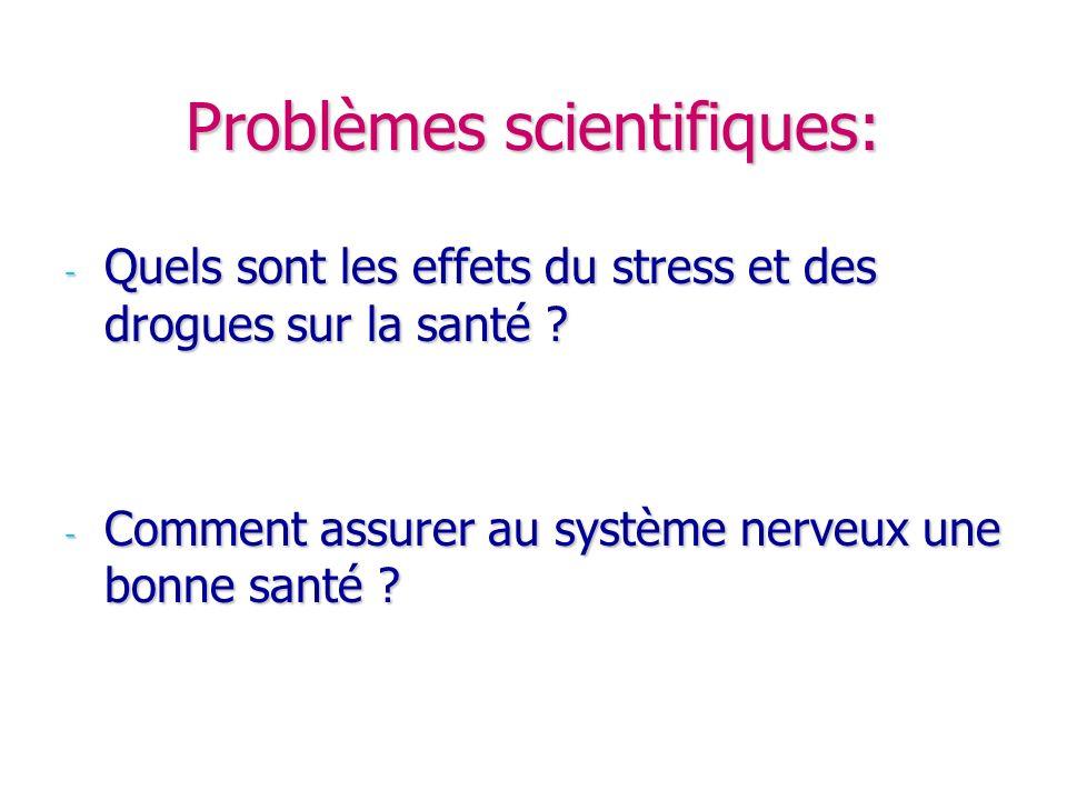 Problèmes scientifiques:
