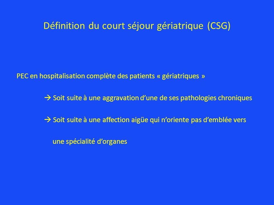 Définition du court séjour gériatrique (CSG)