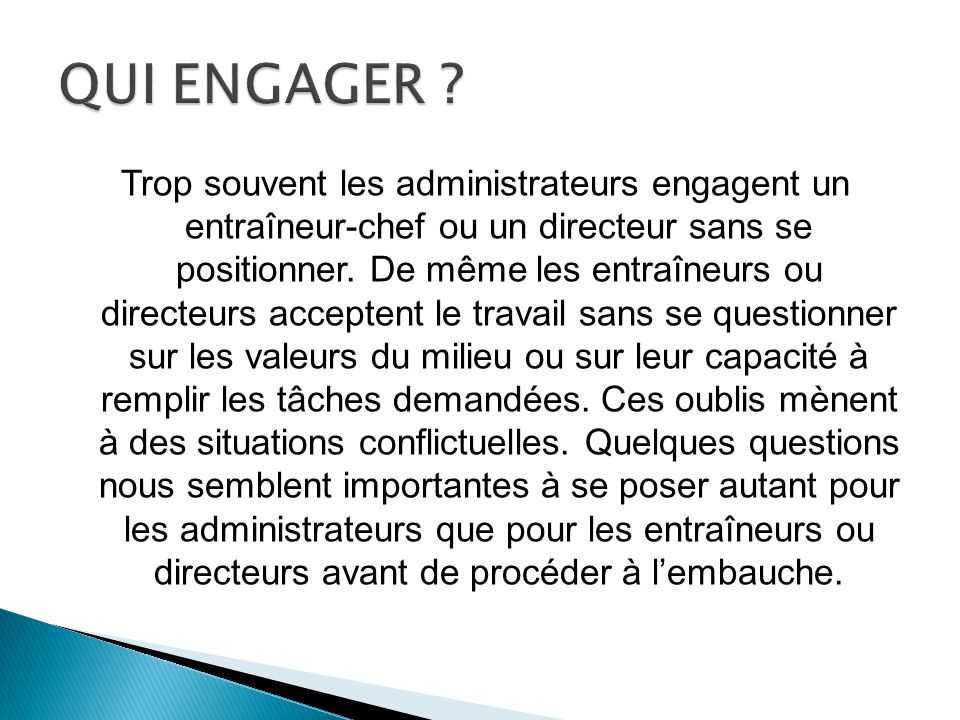 QUI ENGAGER
