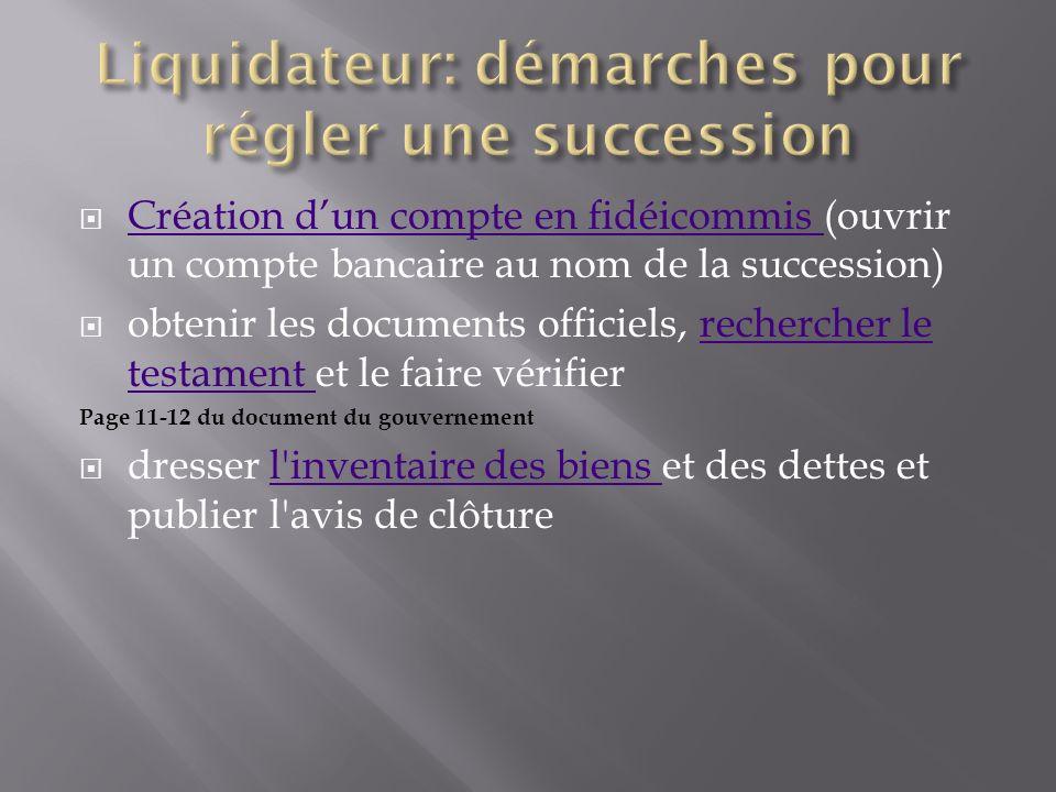 Liquidateur: démarches pour régler une succession