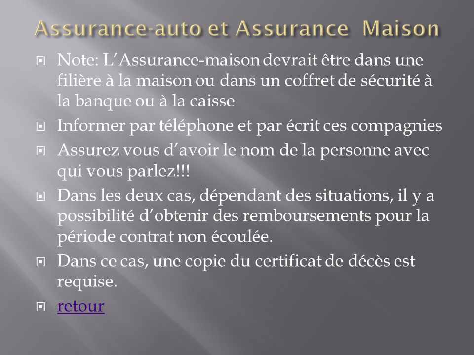 Assurance-auto et Assurance Maison