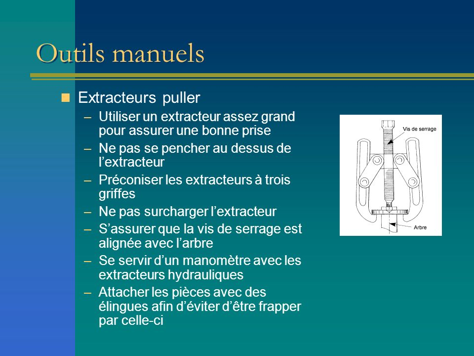 Outils manuels Extracteurs puller