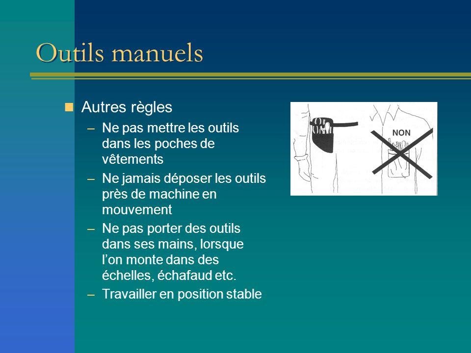 Outils manuels Autres règles