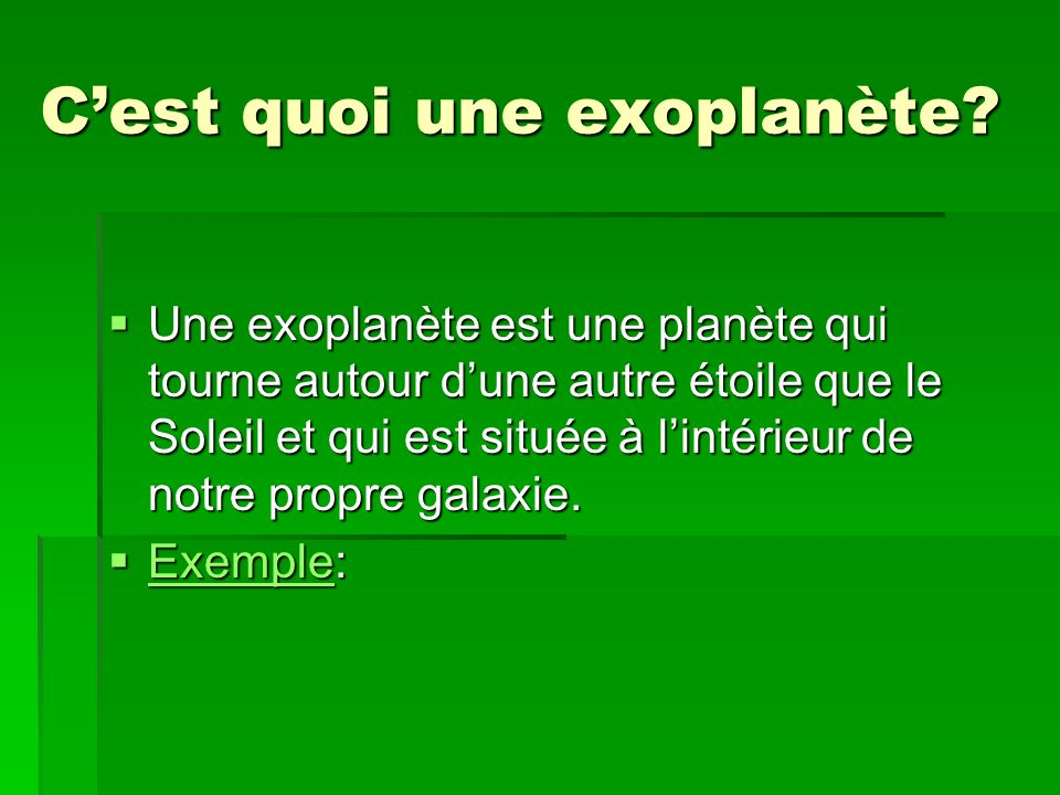 C'est quoi une exoplanète