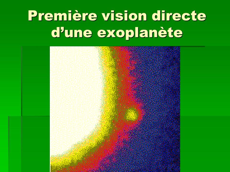 Première vision directe d'une exoplanète