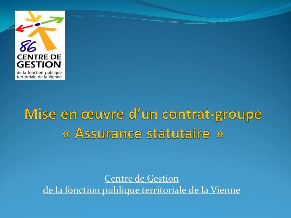 Mise en œuvre d'un contrat-groupe « Assurance statutaire »