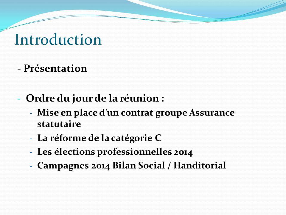 Introduction - Présentation Ordre du jour de la réunion :
