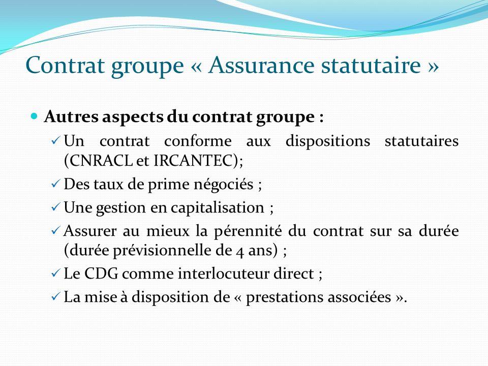 Contrat groupe « Assurance statutaire »