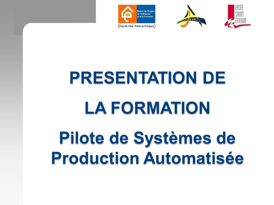 Pilote de Systèmes de Production Automatisée