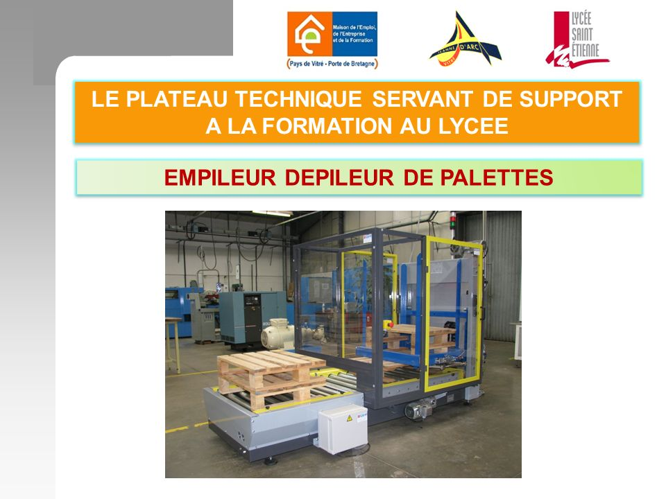 LE PLATEAU TECHNIQUE SERVANT DE SUPPORT A LA FORMATION AU LYCEE