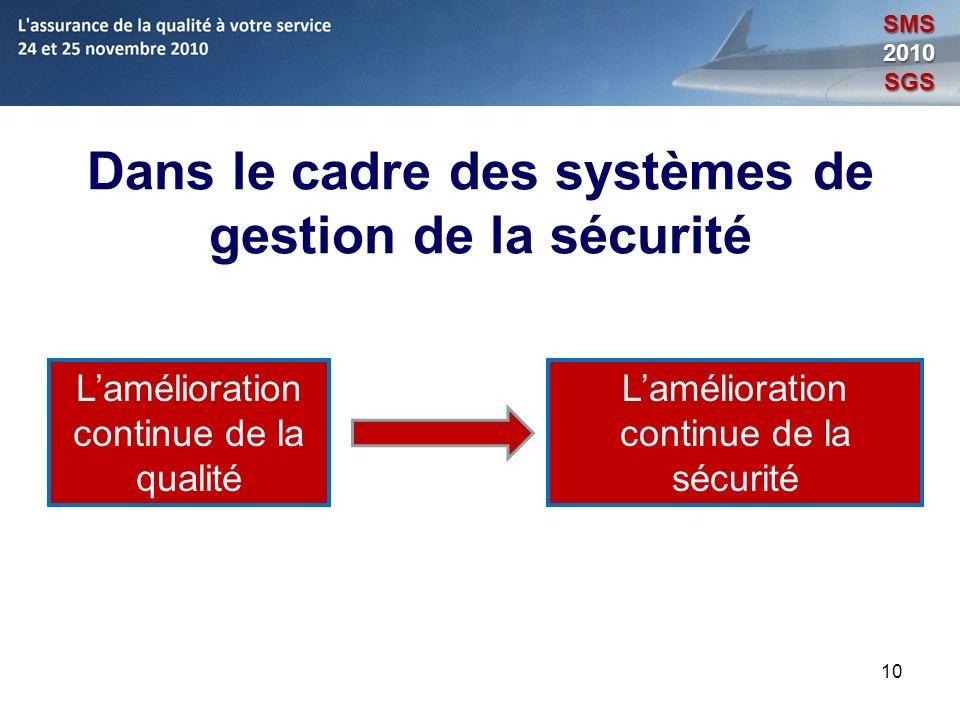 Dans le cadre des systèmes de gestion de la sécurité