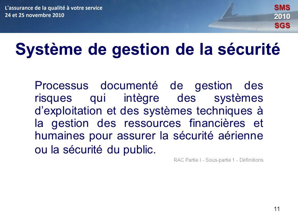 Système de gestion de la sécurité