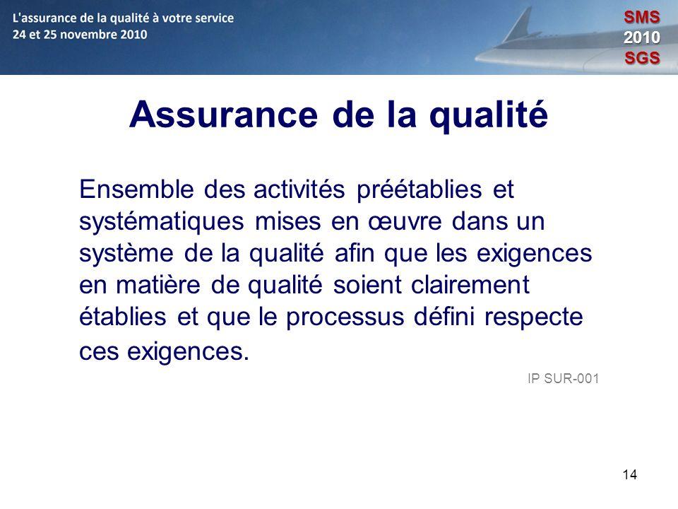 Assurance de la qualité