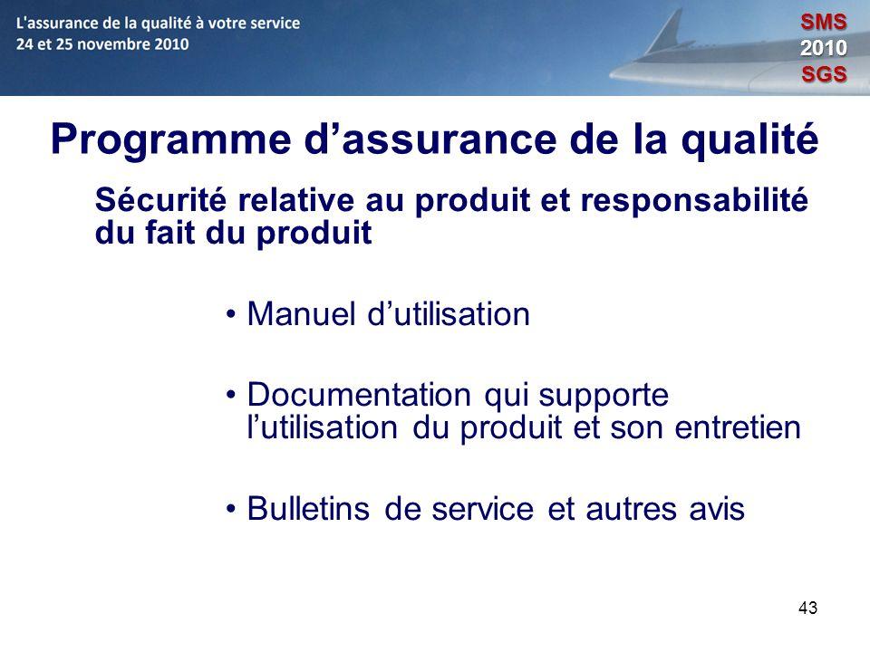 Programme d'assurance de la qualité