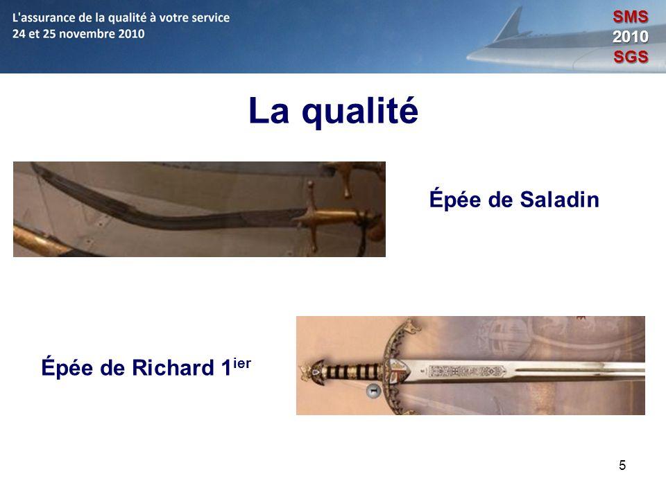 SMS 2010 SGS La qualité Épée de Saladin Épée de Richard 1ier 5