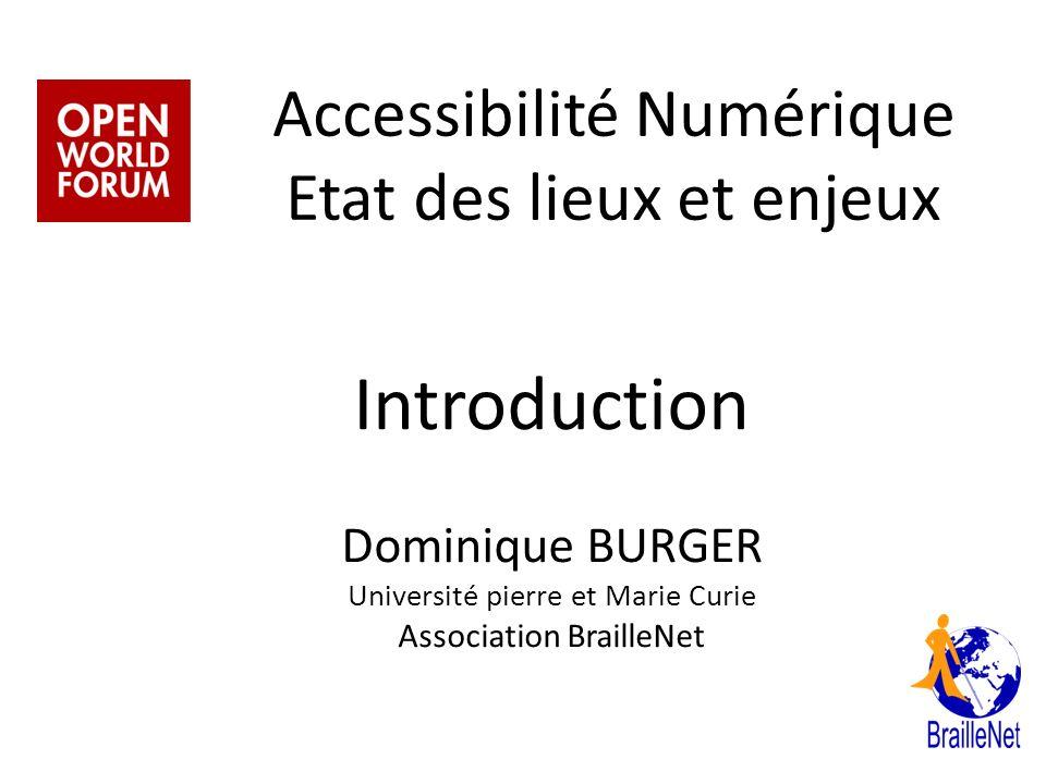 Accessibilité Numérique Etat des lieux et enjeux