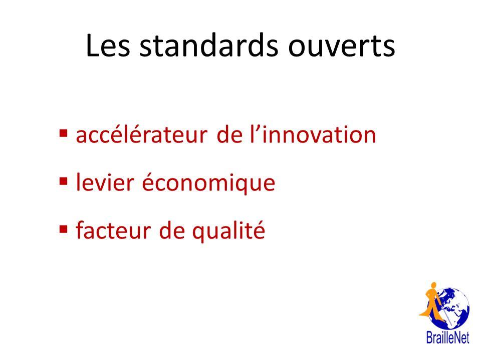 Les standards ouverts accélérateur de l'innovation levier économique
